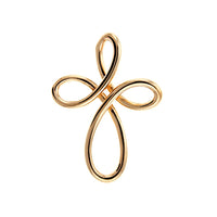 Rose Gold Infinity Cross Pendant
