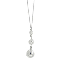 Silver Three Ball Necklace