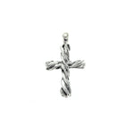 Electroform Twist Cross Pendant