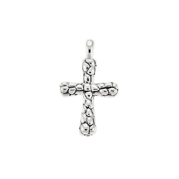 Electroform Pebble Cross Pendant