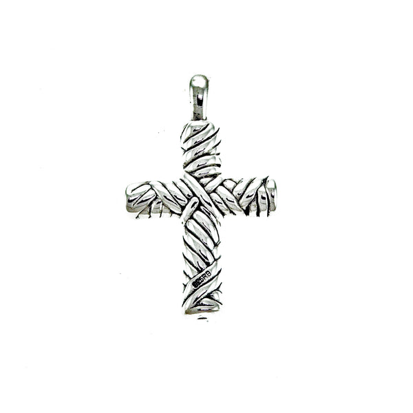 Electroform Rope Cross Pendant