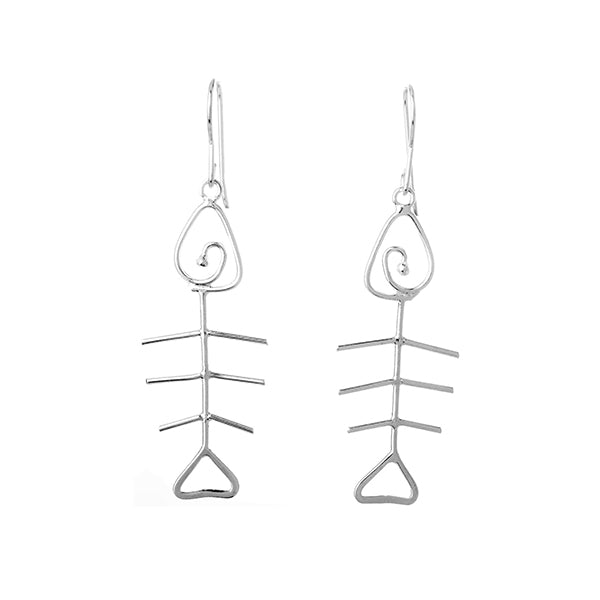 Wire Fishbone Earrings