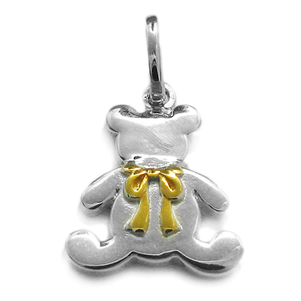 Gold Vermeil Teddy Bear Pendant