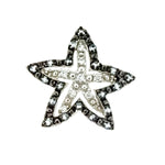 Black CZ Starfish Slide Pendant