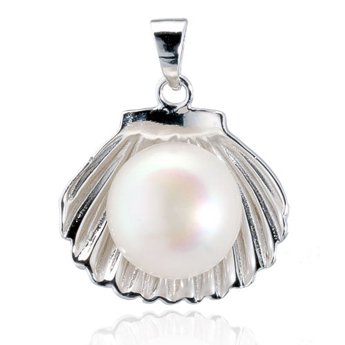 Pearl Clam Shell Pendant