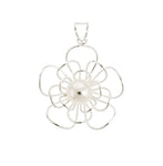 Pearl Wire Flower Pendant