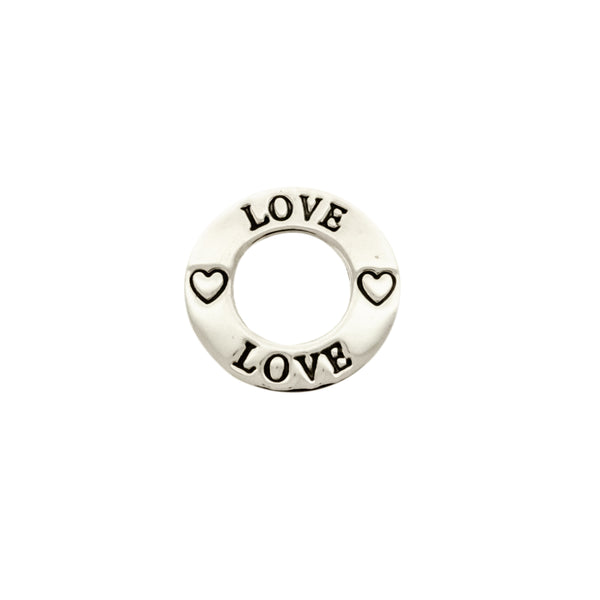 Etched Love Ring Pendant