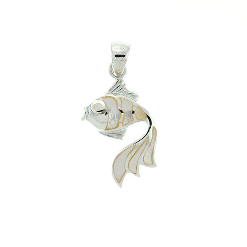 White Shell Fish Pendant