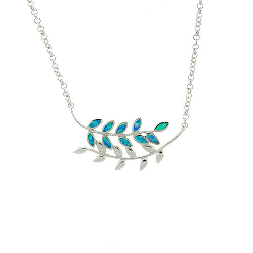 Blue Opal Branch Necklace