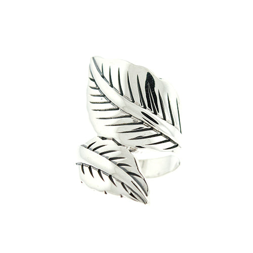 Double Leaf Wrap Ring