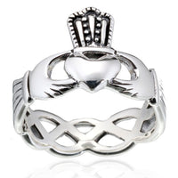 Braided Band Claddagh Ring