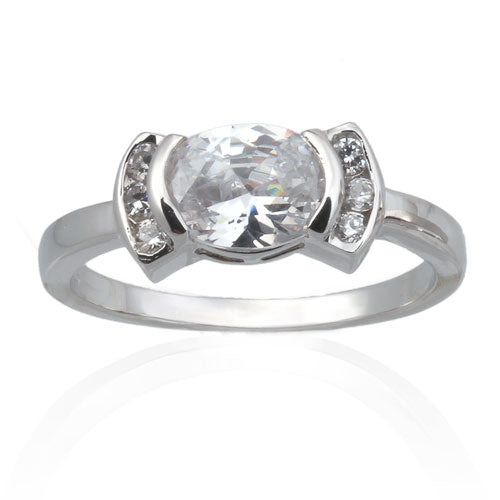 Oval CZ Ring