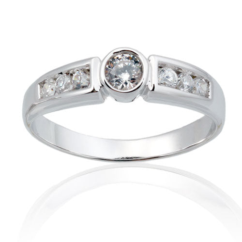 4mm CZ Solitaire Ring