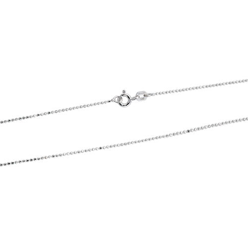 Rhodium 100 1mm DC Bead Chain