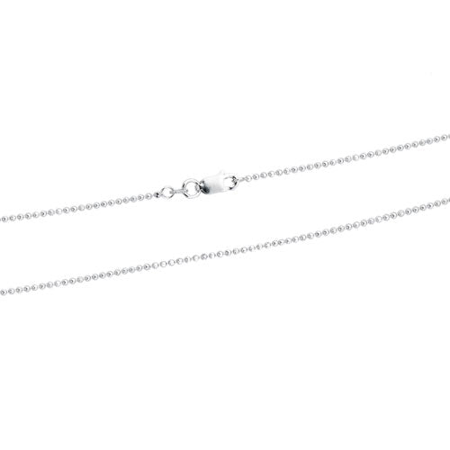 Rhodium 1.5mm DC Bead 150 Chain