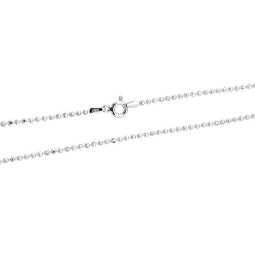 Rhodium 1.8mm DC Bead 180 Chain