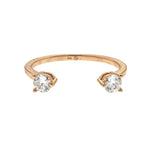 Rose Gold CZ Cuff Ring