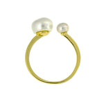 Gold Freshwater Pearl Cuff Ring