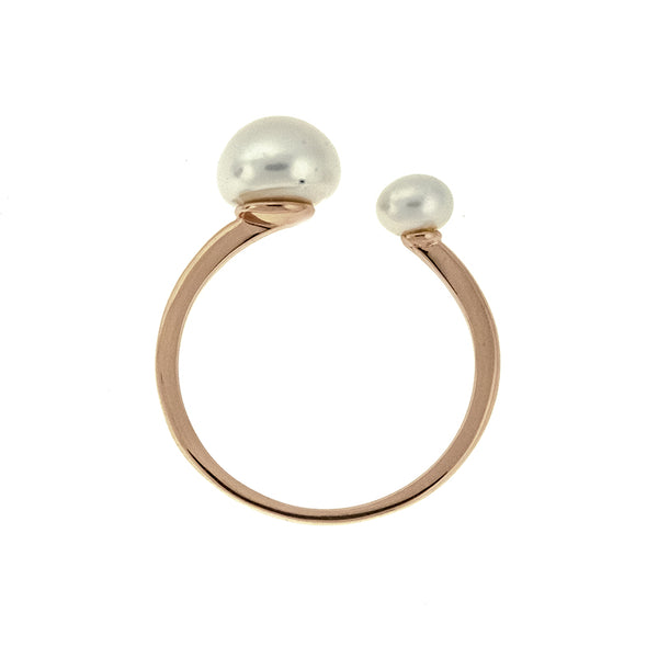 Rose Freshwater Pearl Cuff Ring