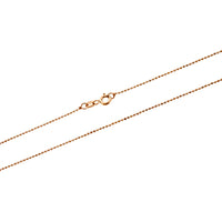Rose Gold 1mm DC Bead 100 Chain