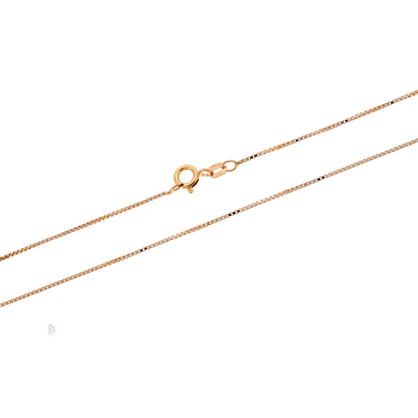 Rose Gold 0.8mm DC Box 015 Chain