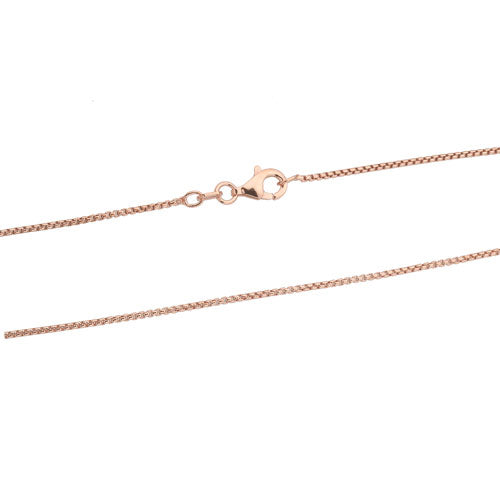 Rose Gold 1mm Round Box Chain
