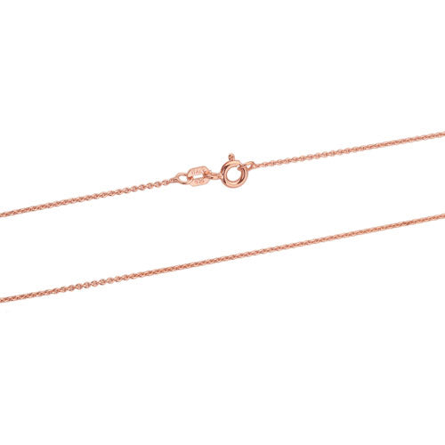 Rose Gold 1mm Rolo 020 Chain