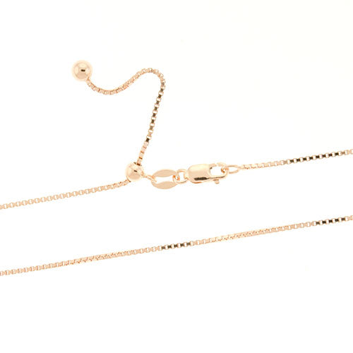 Rose Gold Adjustable Box Chain