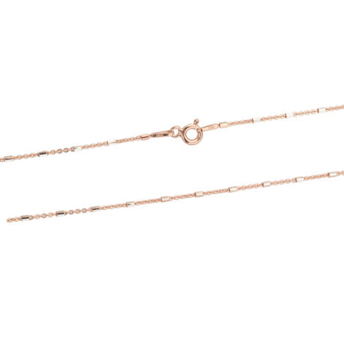 Rose Gold Two Tone Tube Chain
