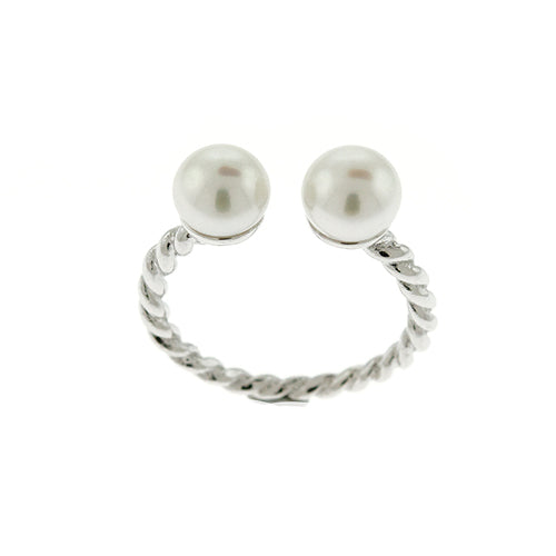 Freshwater Pearl Rope Cuff Ring