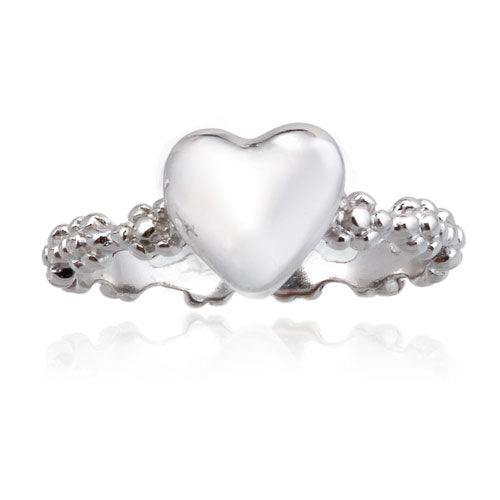Heart and Flower Ring