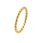 Gold Vermeil Rope Band