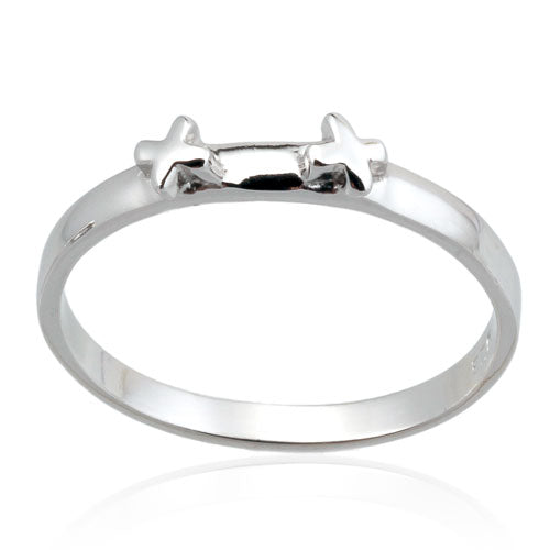 Double X Stacking Ring
