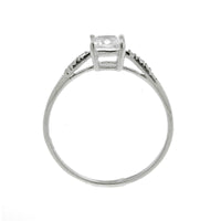 5mm CZ Princess Cut Ring