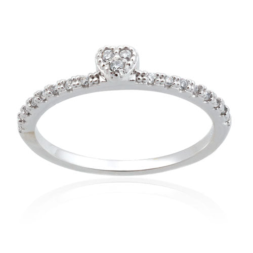 CZ Mini Heart Ring