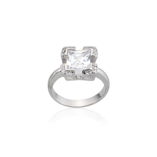 7mm Square CZ Ring