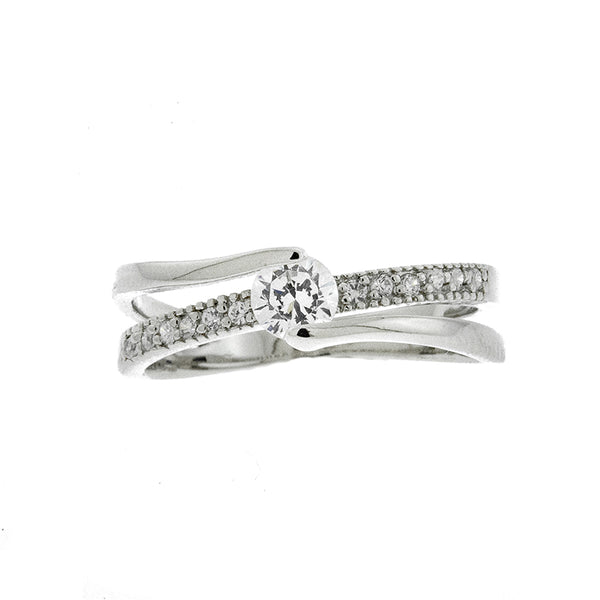 Multi Band CZ Ring
