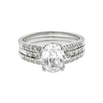 Oval Cathedral Wedding Set