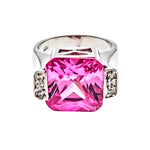 Pink Ice Square CZ Ring