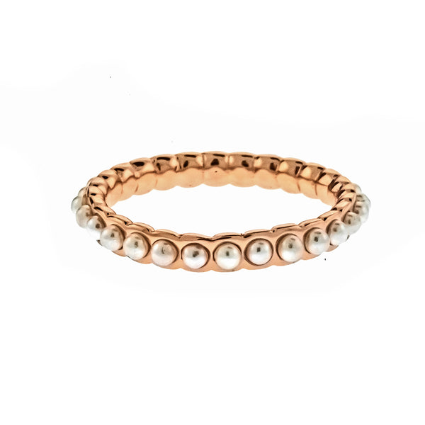 Rose Gold Pearl Band