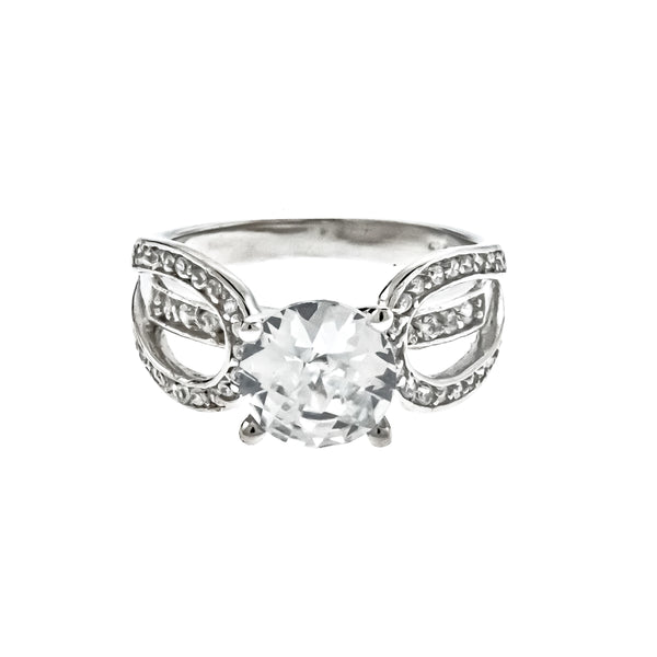 Round Solitaire CZ Ring