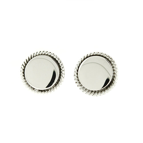 Round Rope Stud Earrings