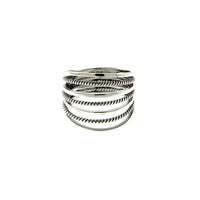 Open Multi-Line Dome Ring