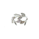 White Shell Leaf Wrap Ring