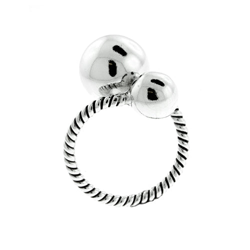 Rope Double Ball Ring