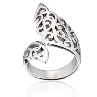 Filigree Double Leaf Wrap Ring