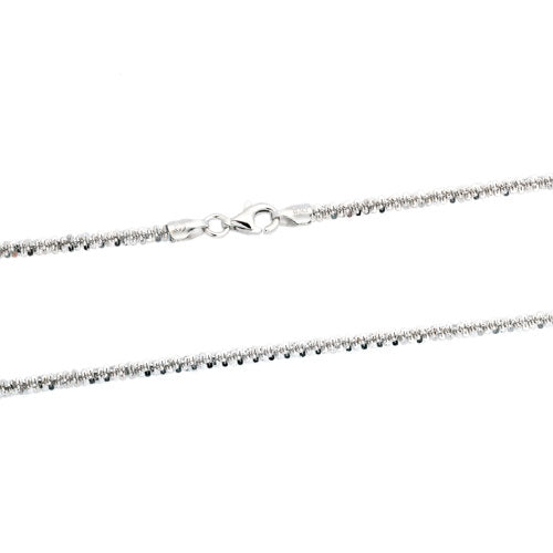 Rhodium 2.5mm Rock 050 Chain