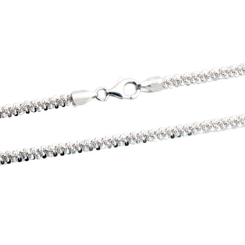 Rhodium 4mm Rock 080 Chain