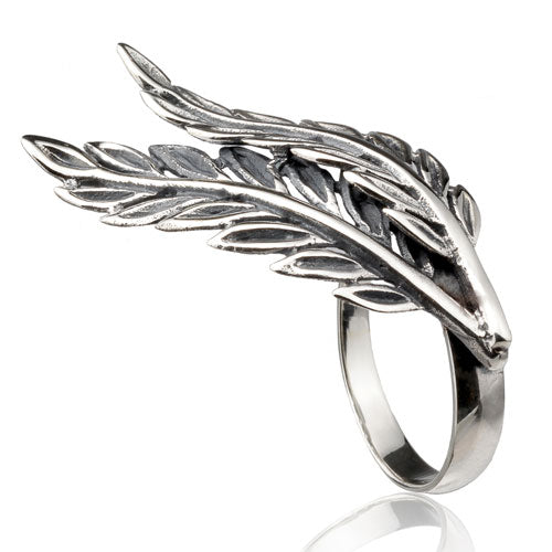 Feather Knuckle Ring