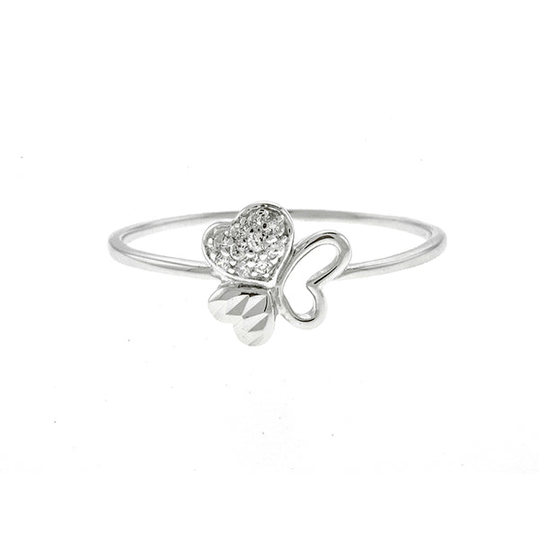 Three Heart CZ Ring
